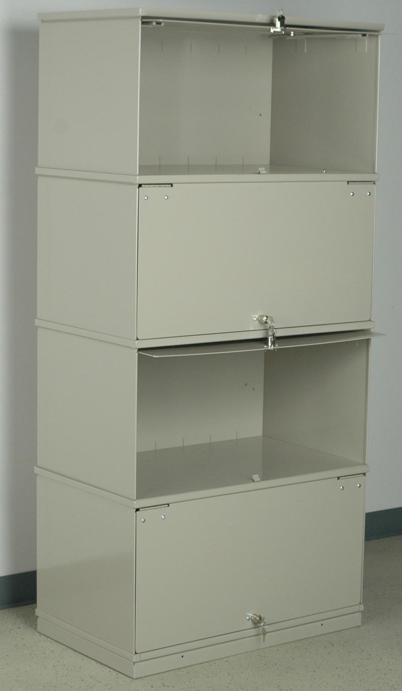 Stackbin Medical 4 Shelf Lockable X Ray Unit