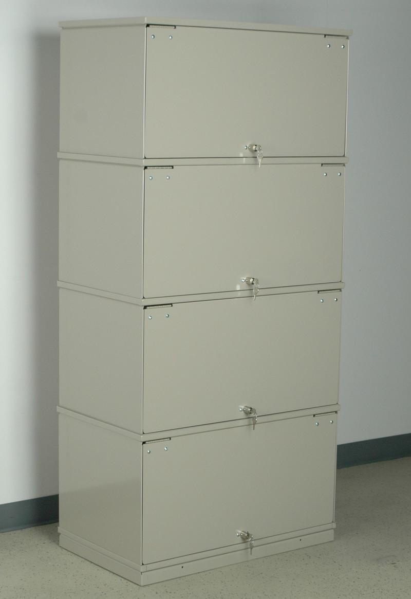 Stackbin Medical 4 Shelf Lockable X Ray Unit