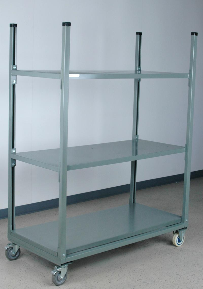 Stackbin -- Shelving & Carts -- Mobile Carton Rack