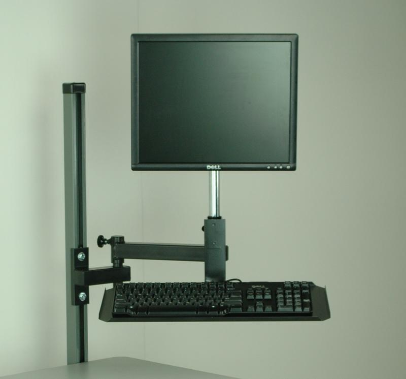 Stackbin Workbenches Flat Screen Monitor Arm With