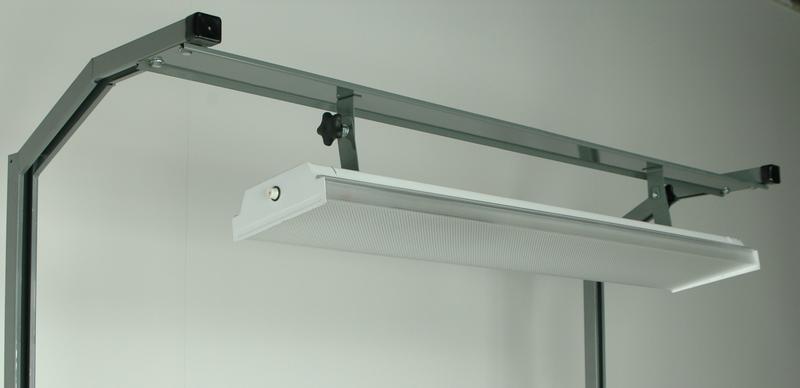 48 fluorescent light fixture building light tiltable 48 stackbin workbenches