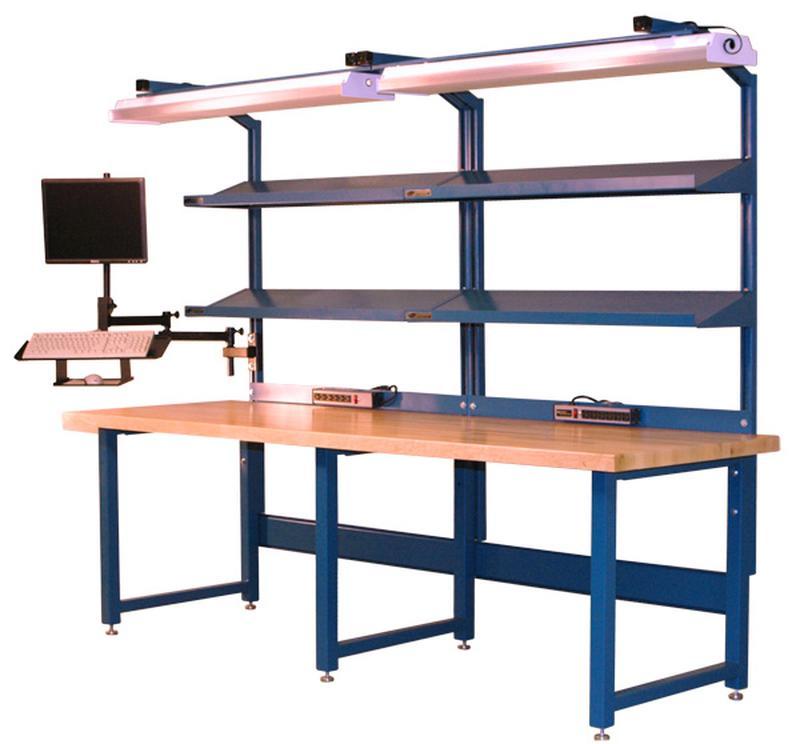 Stackbin Workbenches Flat Screen Monitor Arm W