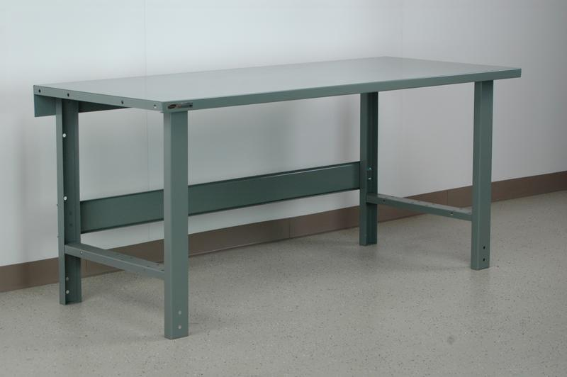 Stackbin Workbenches Heavy Duty Steel Top Workbench