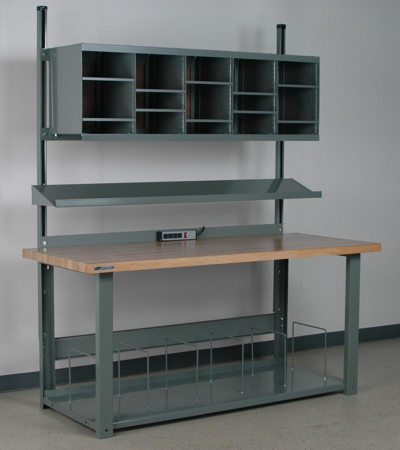 Stackbin Workbenches 12 Quot Deep Angled Cantilevered Shelf