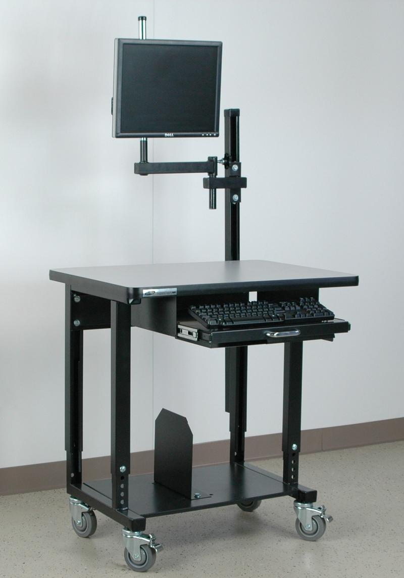Stackbin Workbenches Mobile Computer Station Monitor Arm