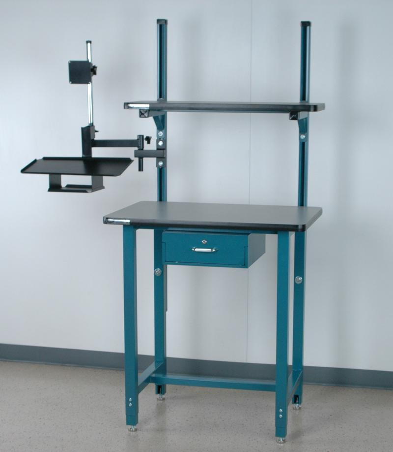 Stackbin Workbenches Computer Desk W Monitor Arm