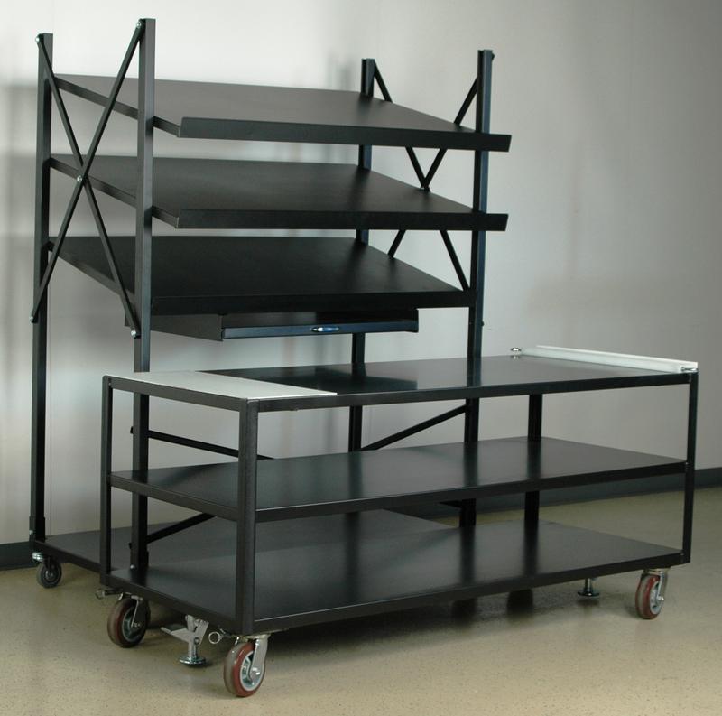 Stackbin Shelving Amp Carts Mobile Conveyor Unit