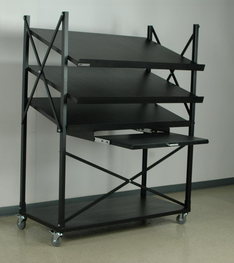 Stackbin Shelving Amp Carts Mobile Conveyor Unit