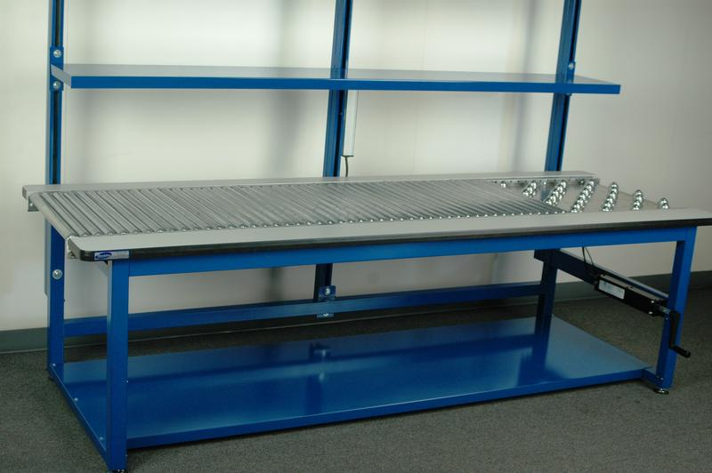Stackbin Custom Projects Roller Conveyor Work Station
