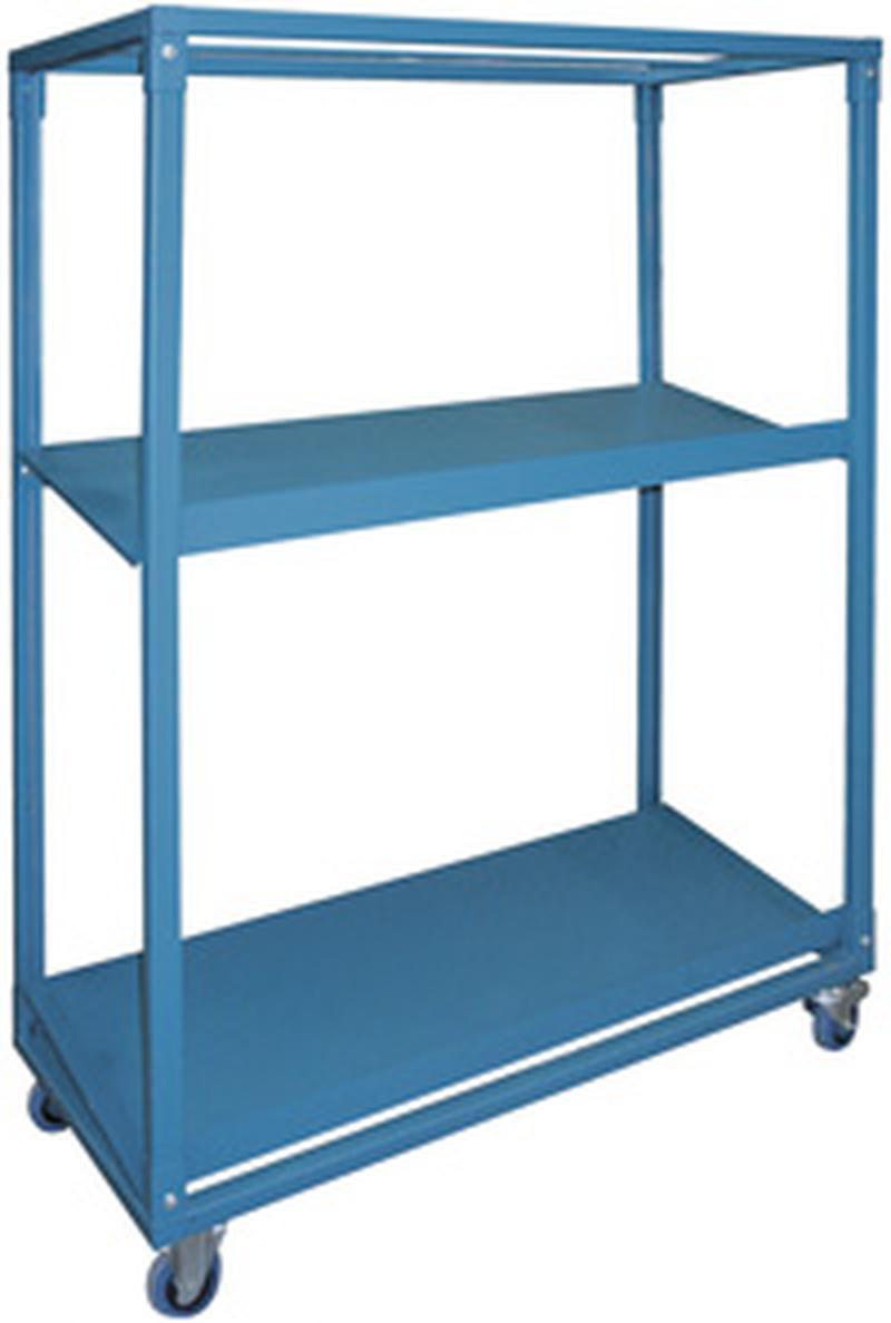 Stackbin -- Shelving & Carts -- Sloped Steel Shelf Cart